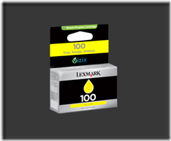 lexmark 100 jaune